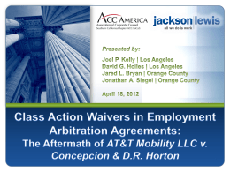 Class Action Waivers in Employment Arbitration Agreements