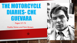 The Motorcycle Diaries- Che Guevara - Mrs McDonald