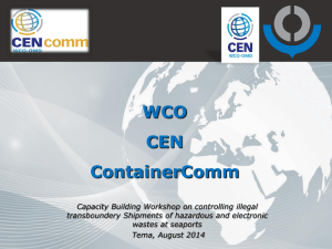 WCO CEN and ContainerComm