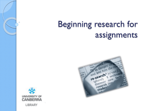 PowerPoint Slides - University of Canberra