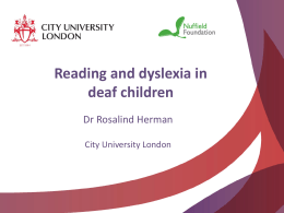 Reading and deaf children