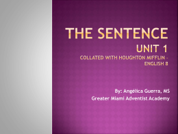 THE SENTENCE - Florida Conference of Seventh