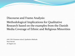 Discourse- and frame analysis