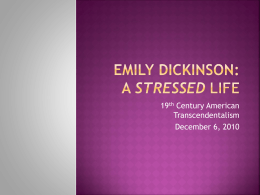 Emily Dickinson - 19th Century American Transcendentalism
