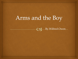 Arms and the Boy - nickellyear12english
