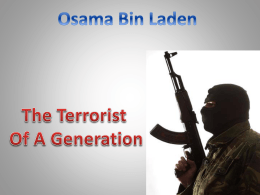 Osama Bin Laden -GONE