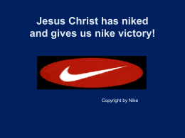nike - The Grace of God in Christ