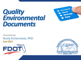 Quality Environmental Documents