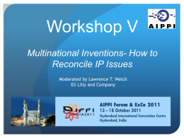 Workshop IV *How to reconcile indigineous rights with the