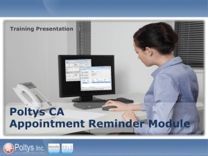 CA Appointment Reminder Module Training Presentation