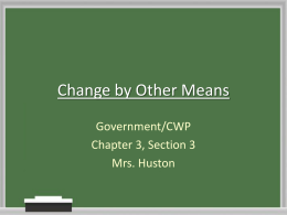 Change by Other Means - RunningStart Forms