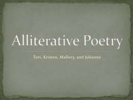 Alliterative Poetry