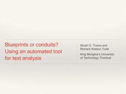 Blueprints or conduits? Using an automated tool for text analysis