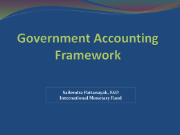 Government accounting and chart of accounts