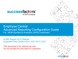 Employee Central Advanced Reporting Configuration Guide for