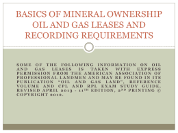 Oil and Gas Land - Association of Indiana Counties