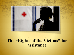 Rights of the Victim