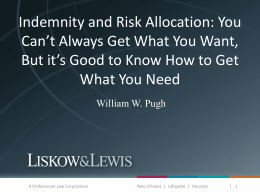 Insurance & Risk Allocation