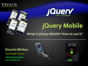 jQuery Mobile - mobile