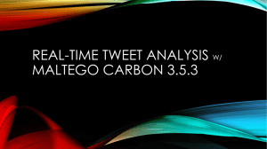Real-Time Tweet Analysis with Maltego Carbon 3.5.3.