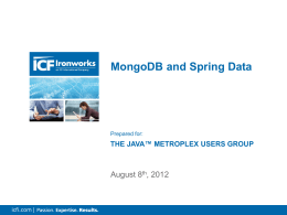 MongoDB and Spring Data Integration