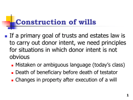 Mistaken or Ambiguous Language in Wills