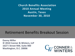 Presentation 1 - Church Benefits Association