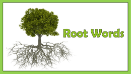 Root Words PowerPoint