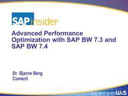 SAP BW 7.4 Performance Monitoring