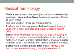 Medical Terminology slideshow