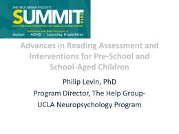 Advances in Reading Assessment and
