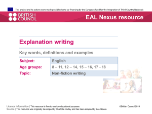 Key words definitions and examples - EAL Nexus