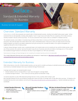 Microsoft Surface Standard and Extended