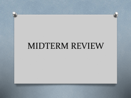 MIDTERM REVIEW - Hamburg Central School District
