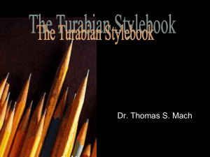 The Turabian Stylebook - Cedarville University