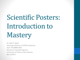 Scientific Posters - The University of Texas at San Antonio