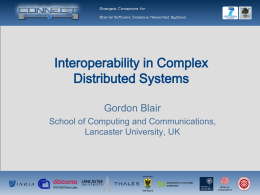 Interoperability in Complex Distributed Systems