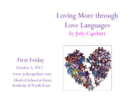What is love? - Jody Capehart