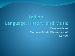 Ladino: Language, history, and music