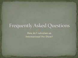 Calculating International Per Diem