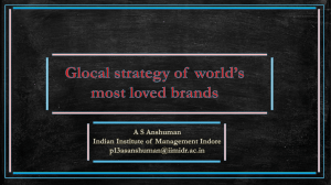 Glocal strategy of world`s most loved brands_A S