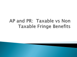 AP: Taxable vs Non Taxable Fringe Benefits