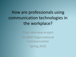 HU3840TechnologiesatWorkInterviewReport