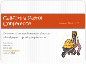 Tax Equalization - California Payroll Conference
