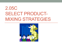 Product-Mixing Strategies PowerPoint