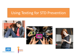 Using Texting for STD Prevention