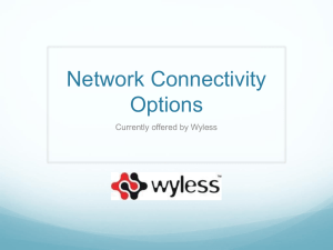 Network Connectivity Options
