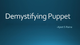 Demystifying Puppet