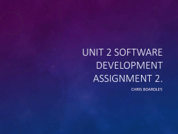 Unit 2 Software Development Assignment 2