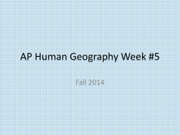 AP Human Geography Week #5